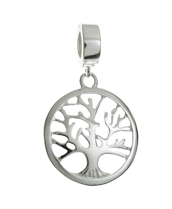 Sterling Silver Family Tree Of Life European Style Dangle Bead Charm - CA1262CF3LR