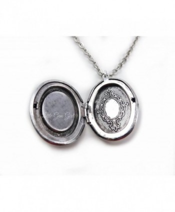 Small silver Dragon Locket Necklace