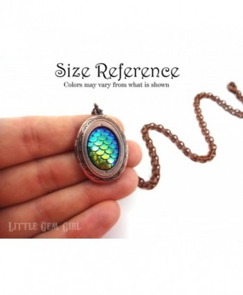 Small silver Dragon Locket Necklace in Women's Lockets