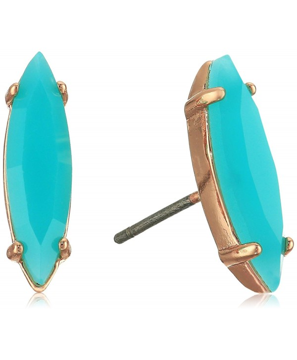 Rebecca Minkoff Sparkler Stud Earrings - Rose Gold/Bright Aqua - CT12N5N2SBS