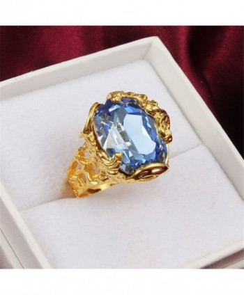 Vintage Blue Crystal Engagement Cocktail