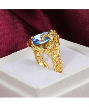 Vintage Blue Crystal Engagement Cocktail in Women's Statement Rings