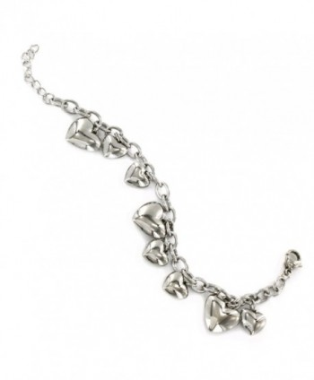 Womens Stainless Polished Dangle Bracelet