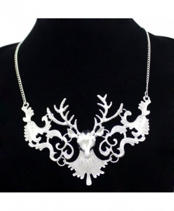 Victorian Filigree Christmas Reindeer Necklace