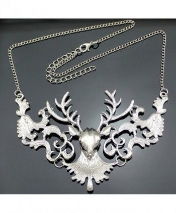 Victorian Filigree Christmas Reindeer Necklace in Women's Choker Necklaces
