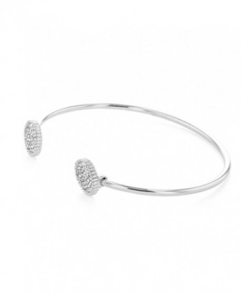 Rhodium Plated Bracelet Crystal Circles