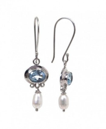 NOVICA Cultured Freshwater Earrings Sterling in Women's Drop & Dangle Earrings