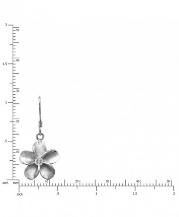 Sterling Silver Plumeria Hook Earrings