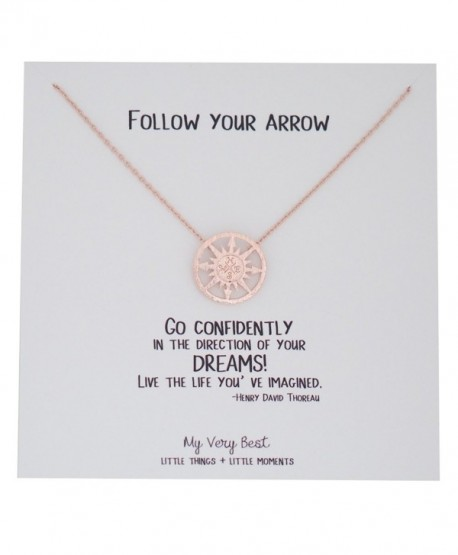 My Very Best Compass Necklace - rose gold plated brass - CH1888LGI7G