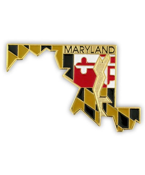 PinMart's State Shape of Maryland and Maryland Flag Lapel Pin - CZ119PEKSKV