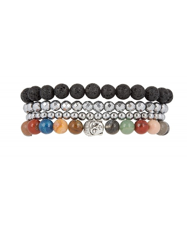Peace- Tranquility Inner Happiness Buddha Charm Stretch Bracelets - SPUNKYsoul Collection - CS12GXR3BEH