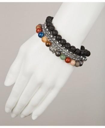 Buddha Bracelets Hematite SPUNKYsoul Collection