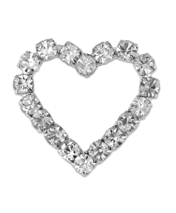 PinMart's Clear Rhinestone Heart Valentine's Day Brooch Pin - CM110T80B59