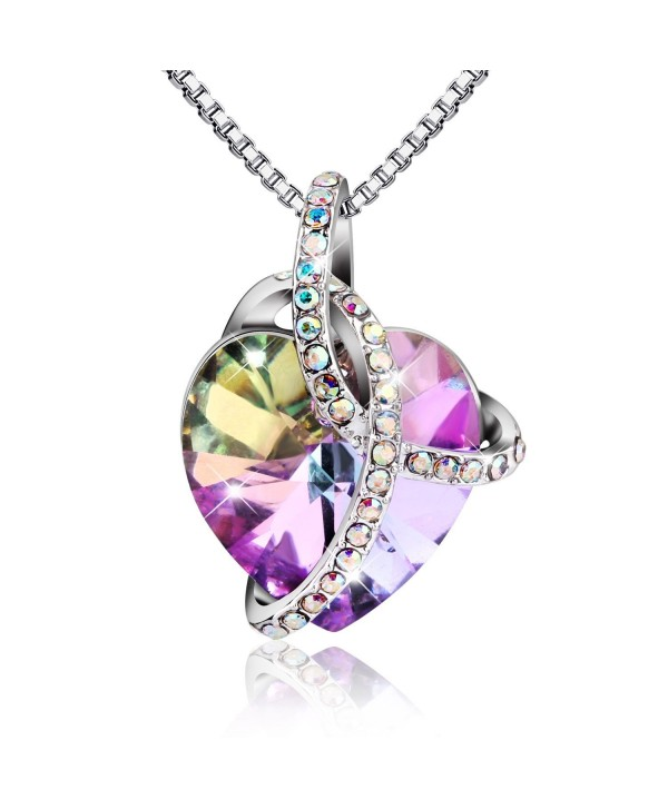 Elegant Fashion Necklace Swarovski Compliments - Purple - CB12K8AY4JP