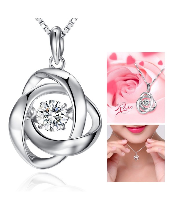 Pendant Necklace Sterling Romantic Charming - C412I2P4LFL