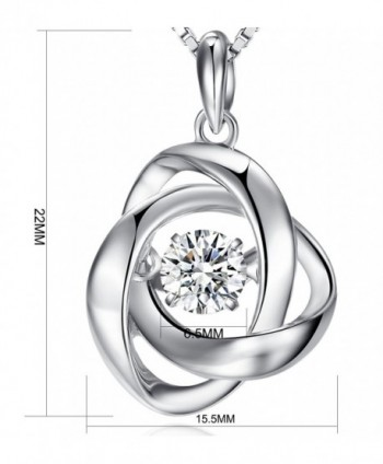 Pendant Necklace Sterling Romantic Charming in Women's Pendants