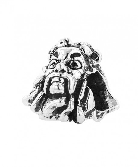 Sterling Silver Wizard of Oz Cowardly Lion Head Bead Charm - CP1217KQ039