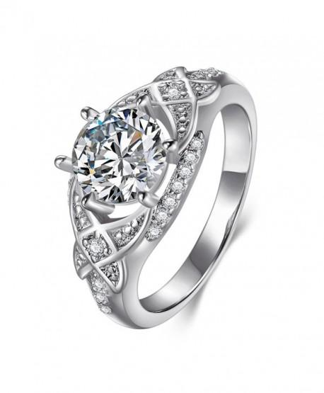 Womens Cubic Zirconia Wedding Engagement - copper white gold - CV185K90G72