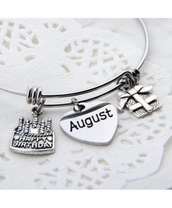 ZuoBao Birthday Jan Dec Stamped Bracelet