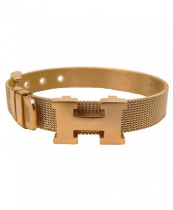 NEW HM0101LB H LOGO MESH BRACELET STAINLESS STEEL GOLDEN - CO12BG1OJMX