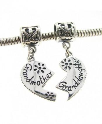 Sterling Granddaughter Grandmother European Bracelets