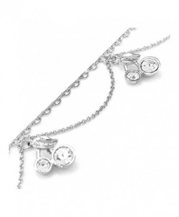 Glamorousky Elegant Cherry Anklet with Silver Austrian Element Crystals (3543) - CF118SOESMX