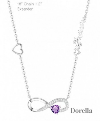 Infinity February Birthstone Anniversary Girlfriend