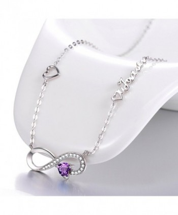 Infinity February Birthstone Anniversary Girlfriend in Women's Y-Necklaces