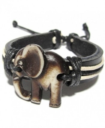 Elephant Bracelet Leather Indian Good