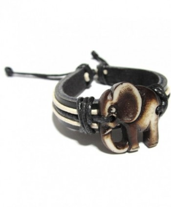 Elephant Bracelet Leather Indian Good in Women's Cuff Bracelets