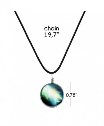 Galaxy Cosmic Pendant Necklace Leather