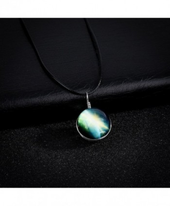 Galaxy Cosmic Pendant Necklace Leather in Women's Pendants