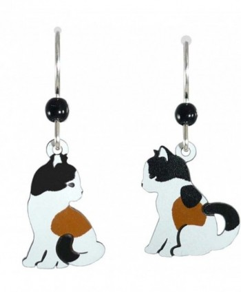 Sienna Sky Pair of Calico Cats Facing Each Other Earrings 1403 - C911CUIZS3L