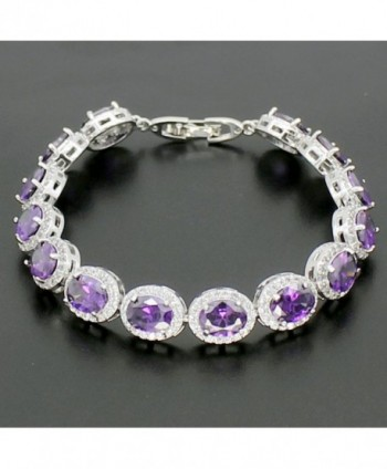 Ladies Bracelet Amethyst Citrine Peridot in Women's Charms & Charm Bracelets