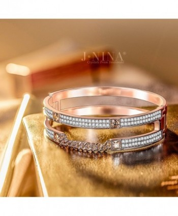 Rose Gold J NINA Impression Anniversary Girlfriend in Women's Bangle Bracelets