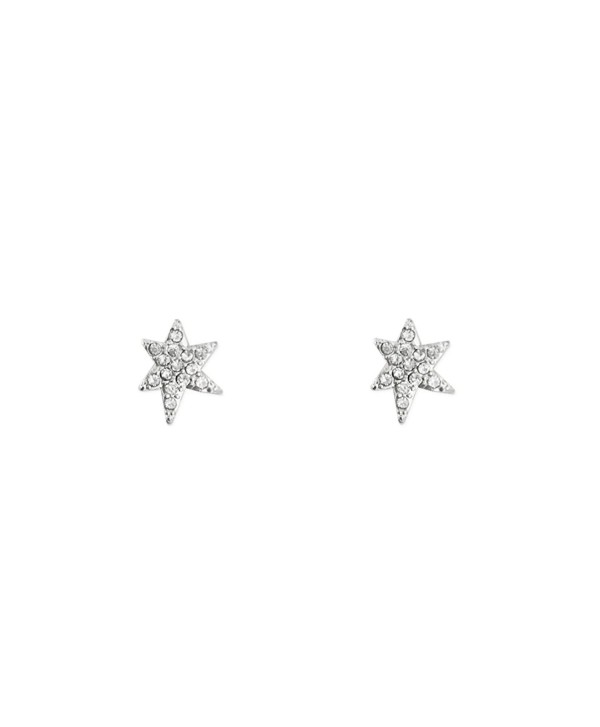 KITSCH Icon Collection Pave Star Earrings - Shine - Silver - CR185AUDDMD