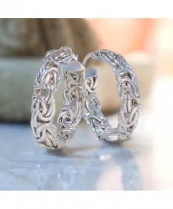Ross Simons Sterling Byzantine Earrings Presentation in Women's Hoop Earrings
