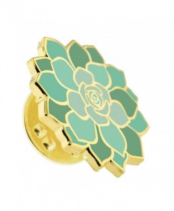 PinMarts Namaste Fatima Succulent Enamel in Women's Brooches & Pins