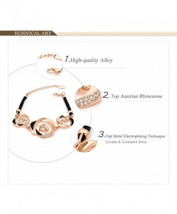 Kemstone Fashion Jewelry Crystal Bracelet in Women's Link Bracelets