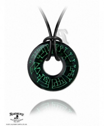 Angel Ring Alchemy Gothic Necklace - CD114KIAZDV