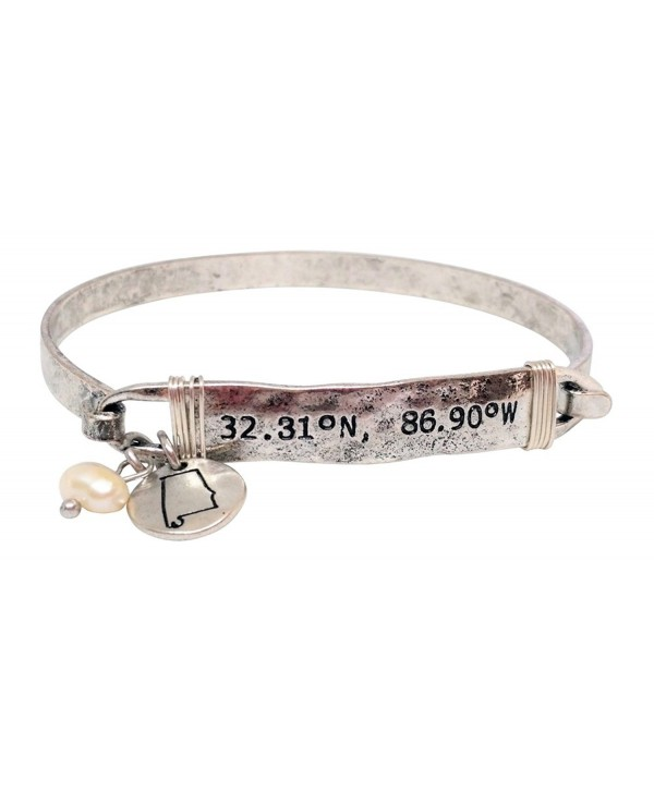 Loaded Lids Latitude and Longitude GPS Coordinates State Bracelet - CZ187IDXC8N