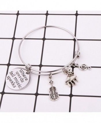 Music Jewelry Bracelet Teacher Charm in Women's Bangle Bracelets