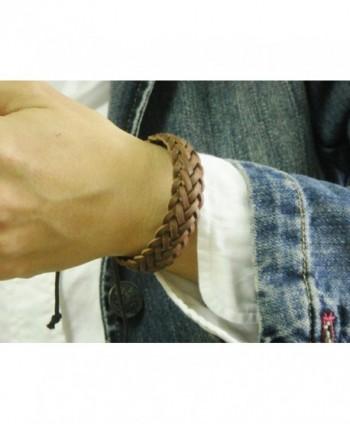 APECTO Braided Wristband Bracelet Handmade in Women's Link Bracelets