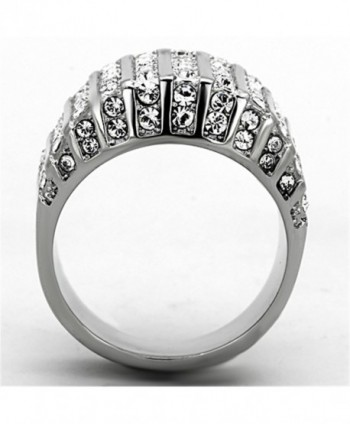 Round Crystal Stainless Fashion Womens in Women's Band Rings