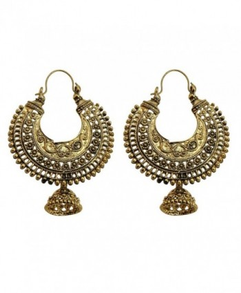 Jwellmart Oxidized Golden Tribal Bohemian Fashion Earrings for Women and Girls - CP12E60YQ3D