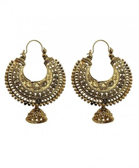 Jwellmart Oxidized Golden Tribal Bohemian Fashion Earrings for Women and Girls - CP12E60YQ3D