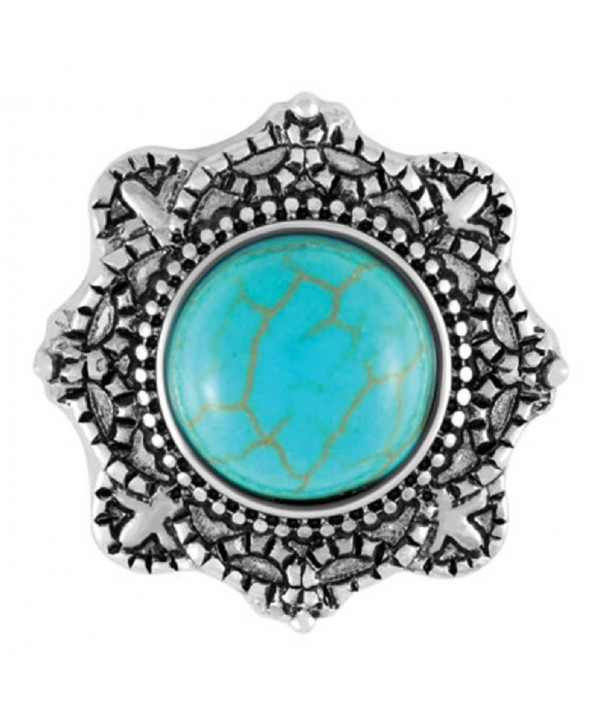 Ginger Snaps Pippa Turquoise SN29-36 (Standard Size) Interchangeable Jewelry Accessories - CC12OBWSZ7J