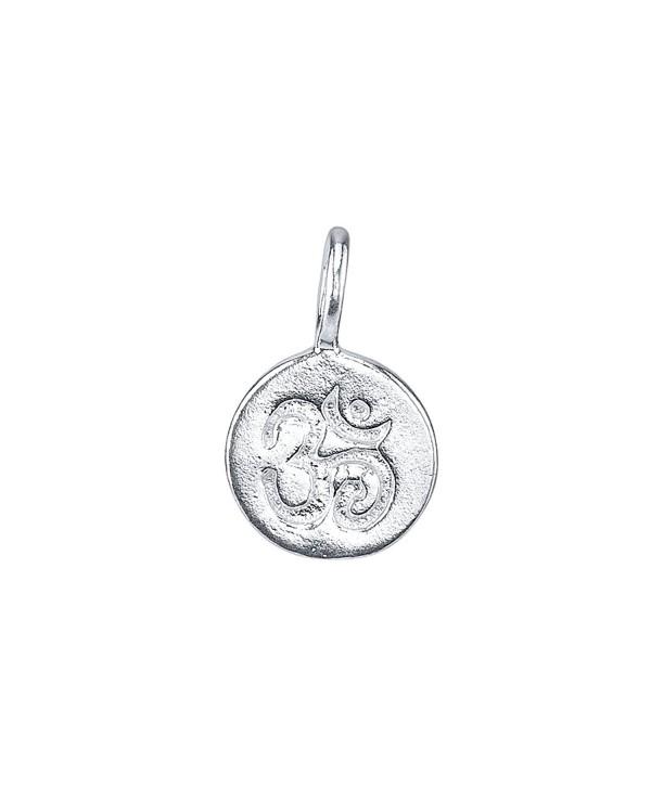 Om Sanskrit Symbol Charm - 925 Sterling Silver - 925 Sterling Silver - CB188TI4ELM