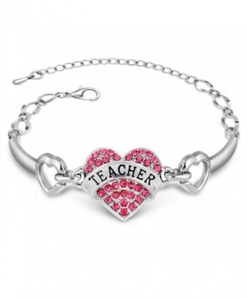 Colors Crystal Pendant Bracelet Teacher - CP12GMRPZUL