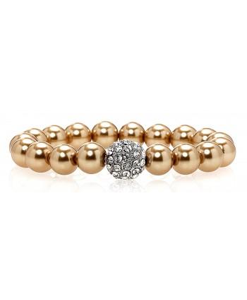 Bronze Pearl Bracelet with Swarovski Crystal - C511IFRQ0AF